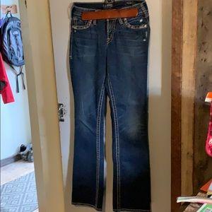 NWOT Silver suki fluid denim bootcut jeans